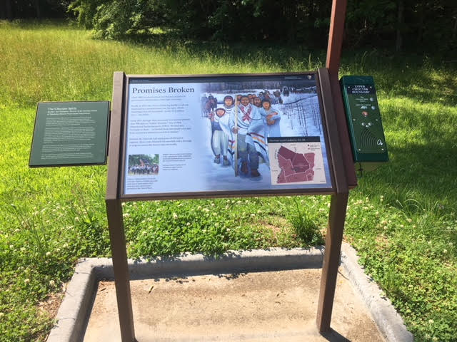 Upper Choctaw Exhibit on Natchez Trace